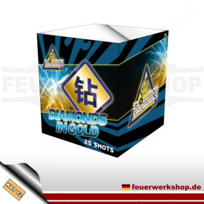 *Diamonds in Gold* - Batteriefeuerwerk von Evolution