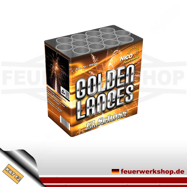 Feuerwerksbatterie Golden Lances (Profi Mix 2)