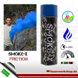 SMOKE-X Rauchgranate mit Reibzündung (Friction) in blau