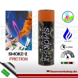 SMOKE-X Rauchgranate mit Reibzündung (Friction) in orange